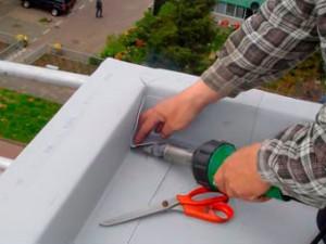 Voorbeeld van het aanbrengen van een PVC dakbedekking